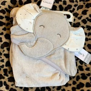 *NWT* Carter's Hooded Baby Bath Towel